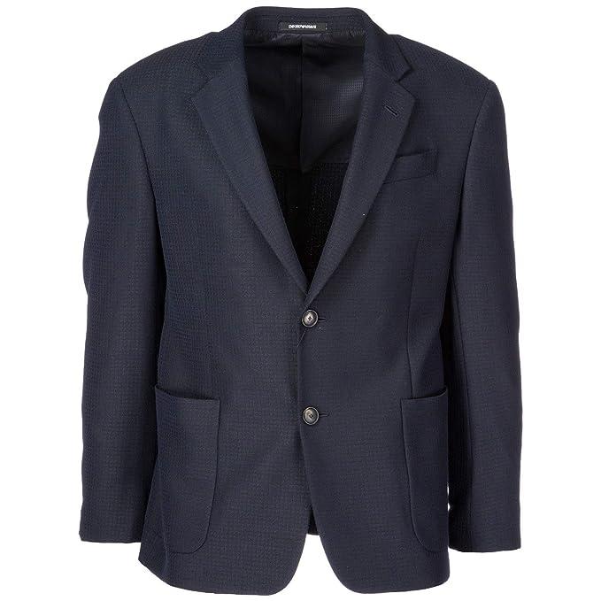 Emporio Armani cazadoras hombres americana chaqueta nuevo blu EU 50 (UK 40) 11GG3011846: Amazon.es: Ropa y accesorios