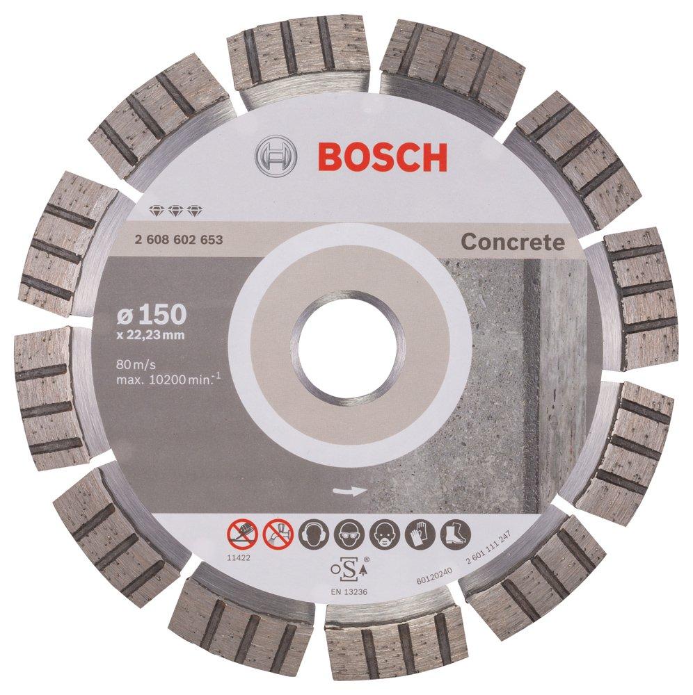 Bosch 2608602653 Disque à tronçonner diamanté best for concrete 150 x 22, 23 x 2, 4 x 12 mm