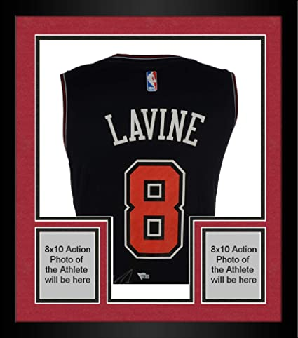 Image Unavailable. Image not available for. Color  Framed Zach LaVine  Chicago Bulls Autographed Black Fanatics Fast Break Jersey ... d0afc51f7