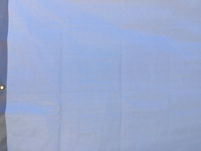 Reversible Silver//White 12 x 12 Kotap TUH-1212 Finished Size Ultra Heavy-Duty 8 oz//16-mil Poly Tarp