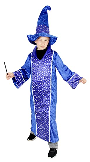 Foxxeo 40179 Zauberer Merlin Kostum Fur Kinder Karneval Fasching