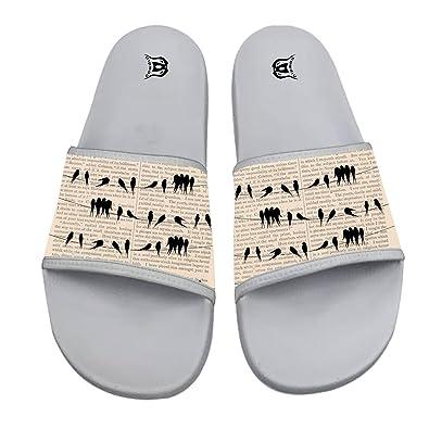 02f0a8af2 COWDIY Summer Pool Sandals Pattern Casual Slipper Slides Sandals White (6)