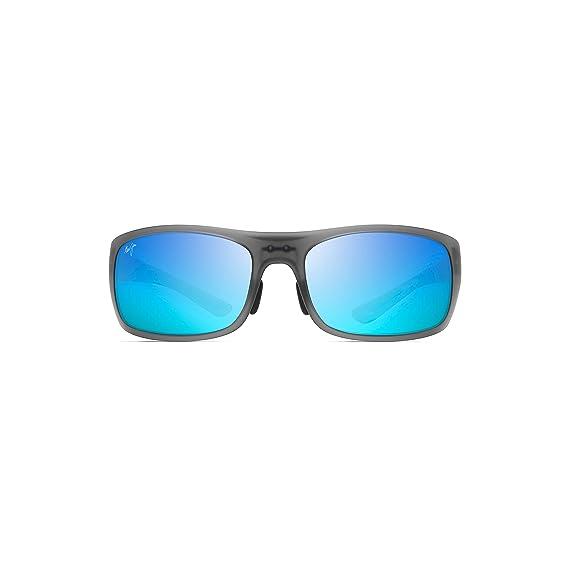 5ac25a1c5d Maui Jim B440 11M Matte Grey Big Wave Rectangle Sunglasses Polarised Lens  Categ  Amazon.co.uk  Clothing