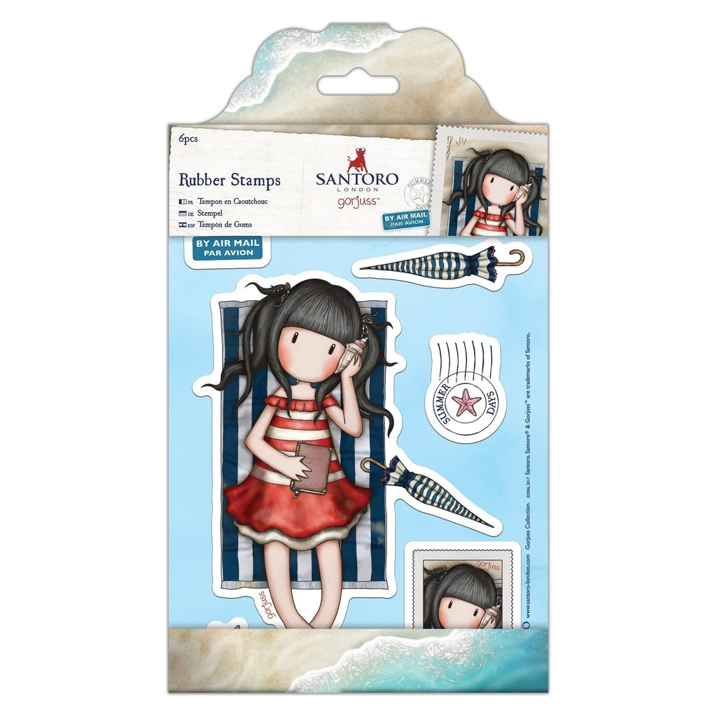 Santoro Gorjuss Postal Craft Collection - Rubber Stamps - Summer ...