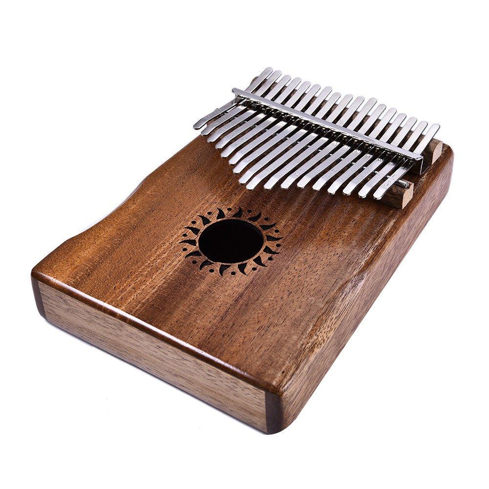SODIAL 17 Key Kalimba Thumb Piano Solid Finger Piano Mahogany Body DKL-17 162627
