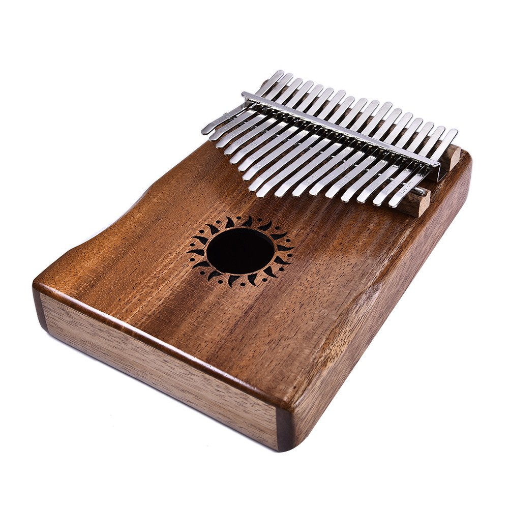 Donner 17 Key Kalimba Thumb Piano Solid Finger Piano Mahogany Body DKL-17