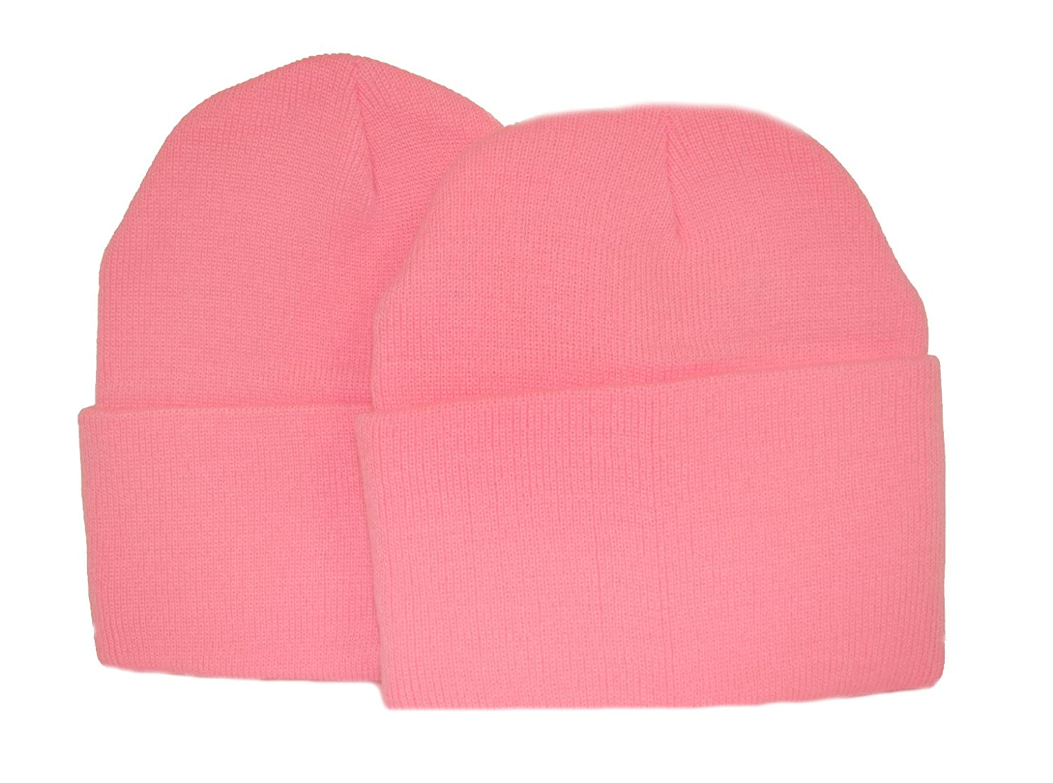 Great Deals! 2 Pack Knit Beanies / Pink