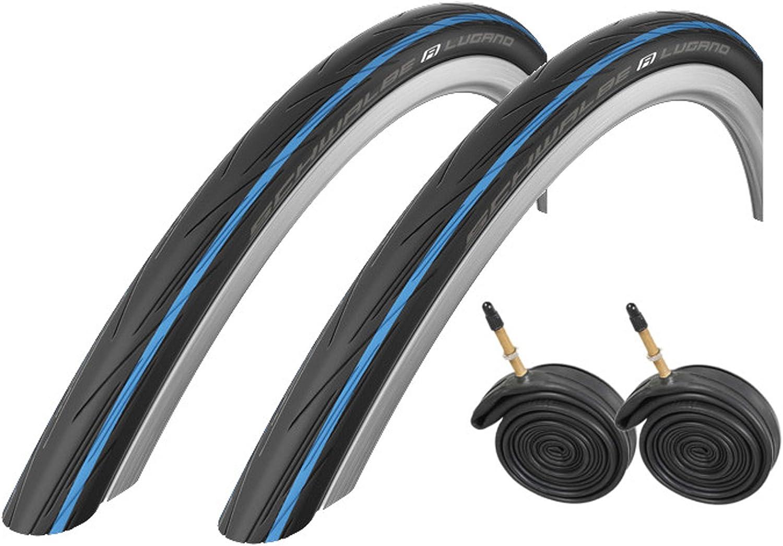 Schwalbe Lugano - Neumáticos para Bicicleta de Carretera (700 x 25 ...