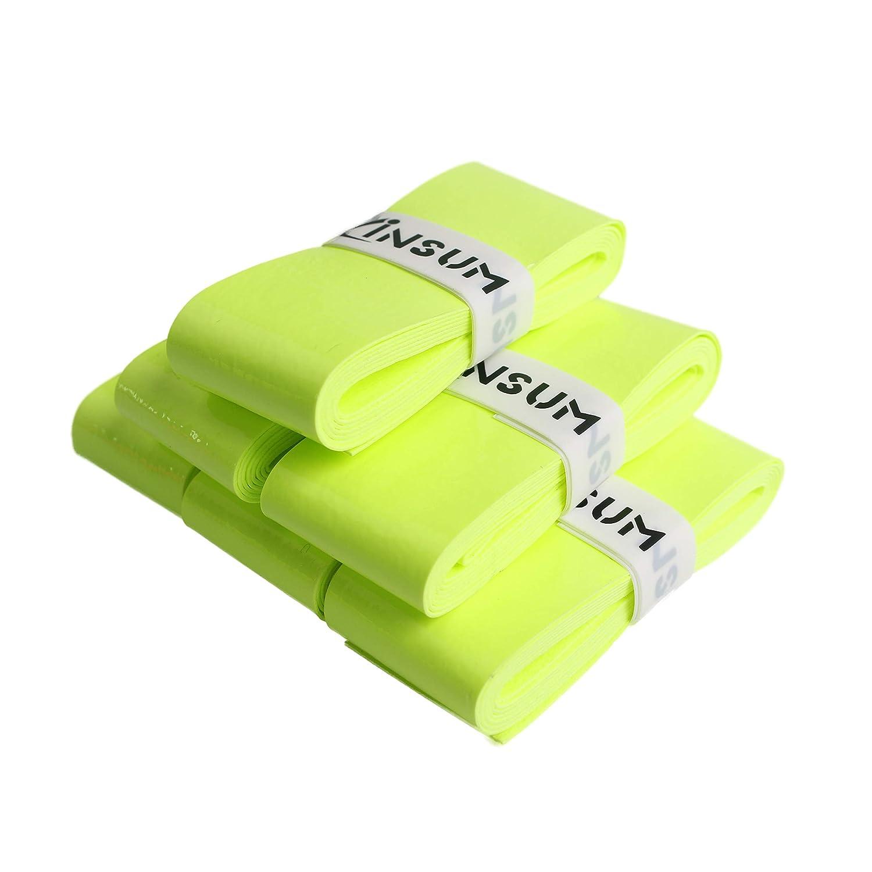 INSUM Tennis Racquet Overgrip Grip Tape 6-Pack Black Blue Orange White neon Green Pink Wet Tape Super Soft Tacky