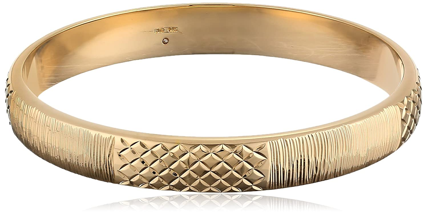 watches bracelets shipping karat gold bangles product overstock jewelry yellow bangle free today
