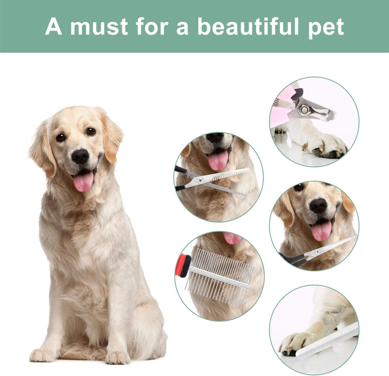 QiCheng/&LYS Pincel de Belleza para Perros y Gatos Amarillo, 50mm Pincel de Belleza para Animales Peine para Perros y Gatos Herramienta Profesional Mane