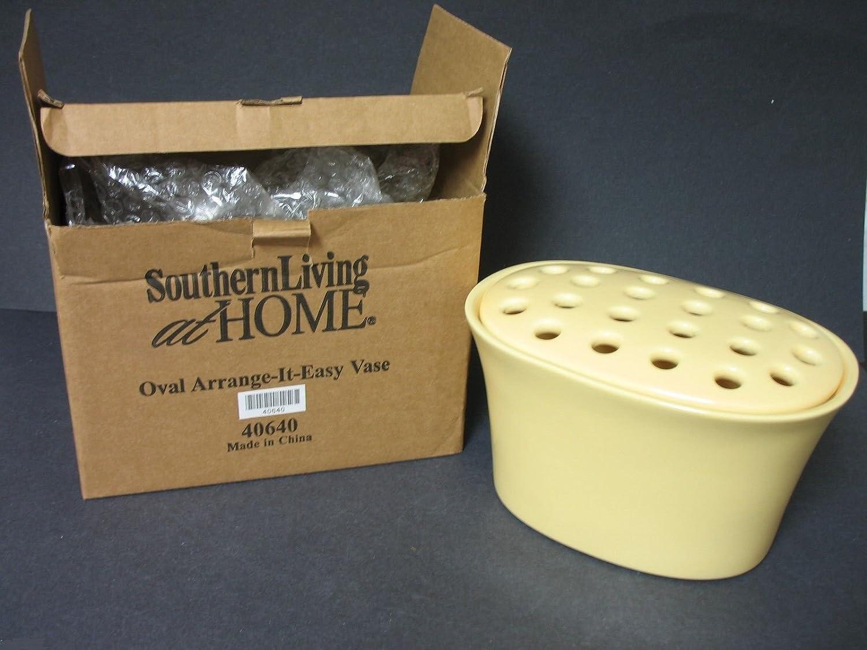 Southern Living at Home Oval Arrange It Easy Flower Vase with Frog Lid