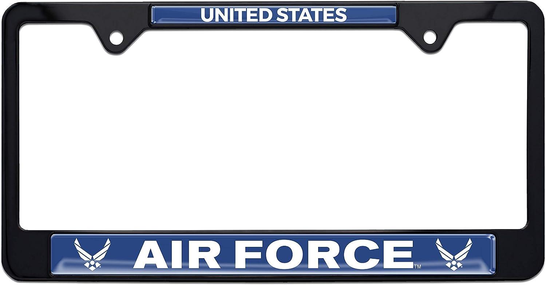 Elektroplate Air Force USA Black License Plate Frame