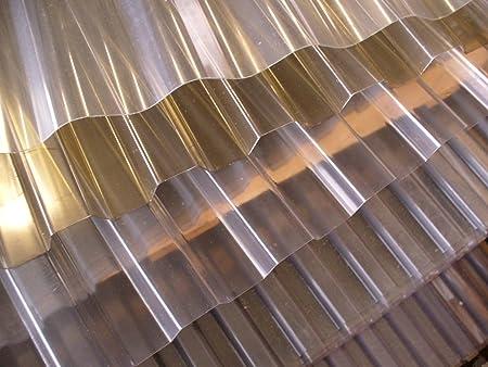 Material PVC Spundwandplatte Breite 1095 mm Farbe Bronze St/ärke 1,4 mm Profil 70//18 Lichtplatte