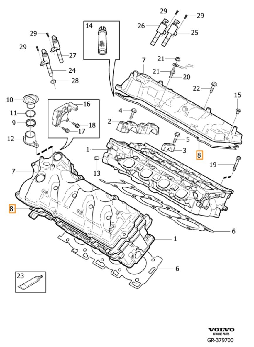 volvo xc90 v8 valve cover gasket replacement