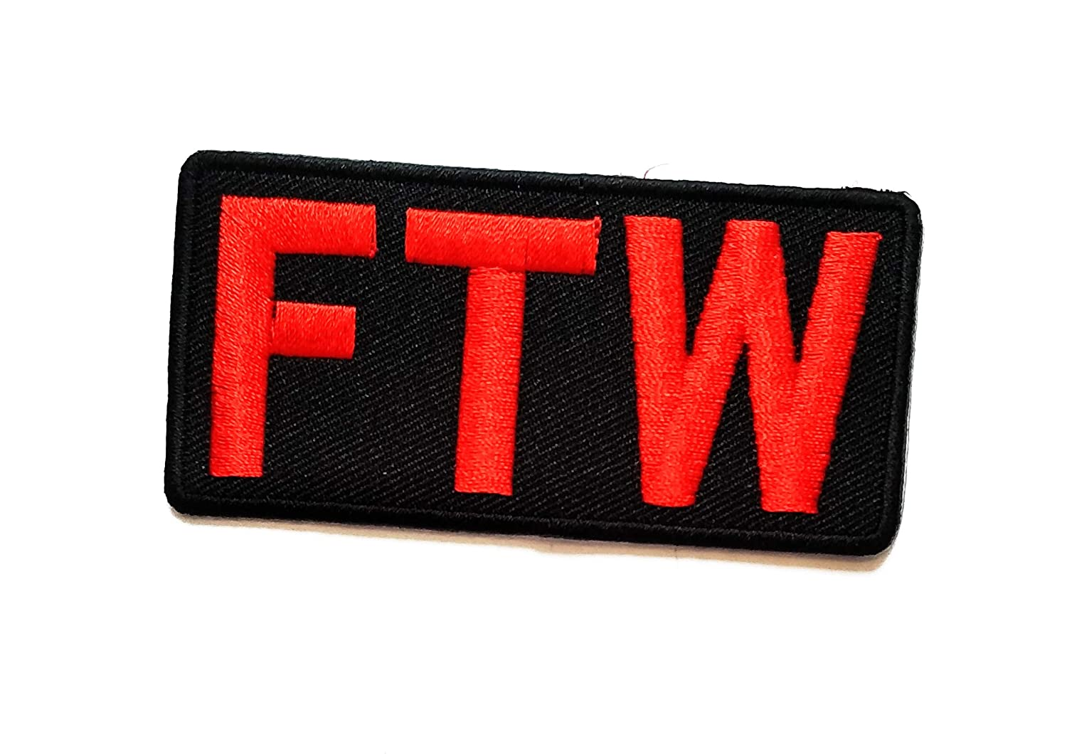 Nipitshop Patches Red FTW Funny Words Patch Funny Joyful Words Motorcycle MC Club Biker Patch Embroidered Iron On Patch for Clothes Backpacks T-Shirt Jeans Skirt Vests Scarf Hat Bag