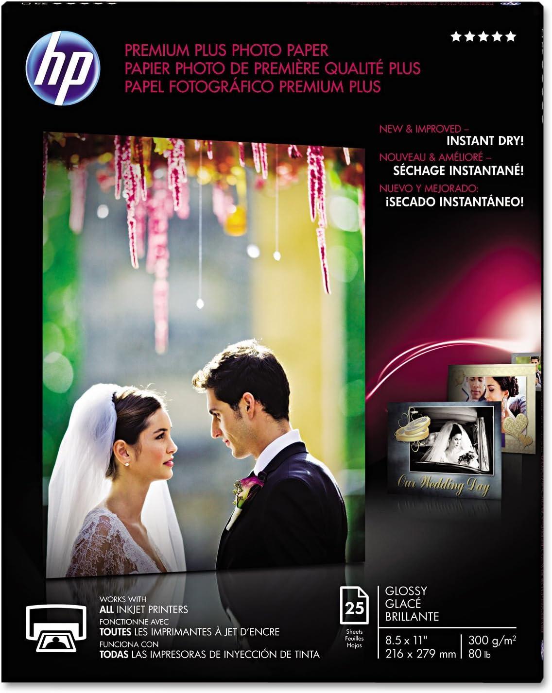 HP CR670A HP Photo Paper, 8-1/2-Inch x11-Inch, 11.5 mil, 25 Shts/PK, Glossy/WE
