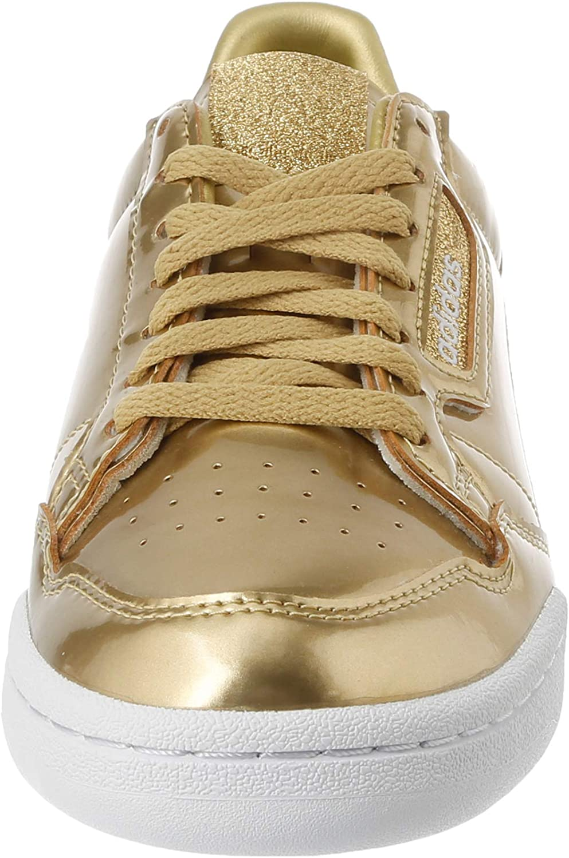 adidas Damen Continental 80 W Gymnastikschuh, Bianco Gold Metallic Matte Gold Crystal White