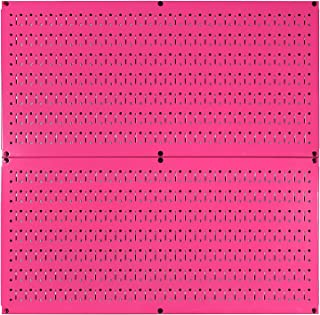product image for Wall Control Pegboard Rack Horizontal Metal Pegboard Garage Tool Storage Pack - Two 32-Inch Wide x 16-Inch Tall Easy to Install Peg Boards (Pink)