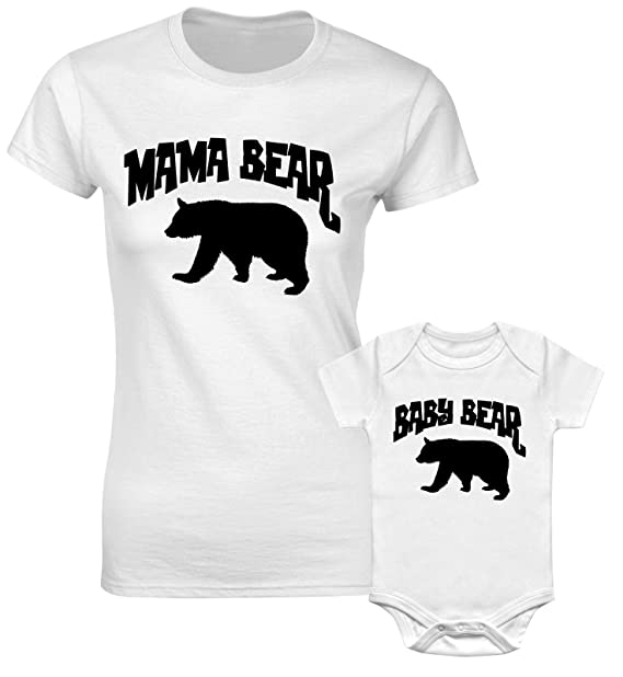 c06d8cdb Christmas Mother Mum Son Mummy Daughter Family Matching T Shirts Bodysuit Mama  Bear & Baby Bear: Amazon.co.uk: Clothing