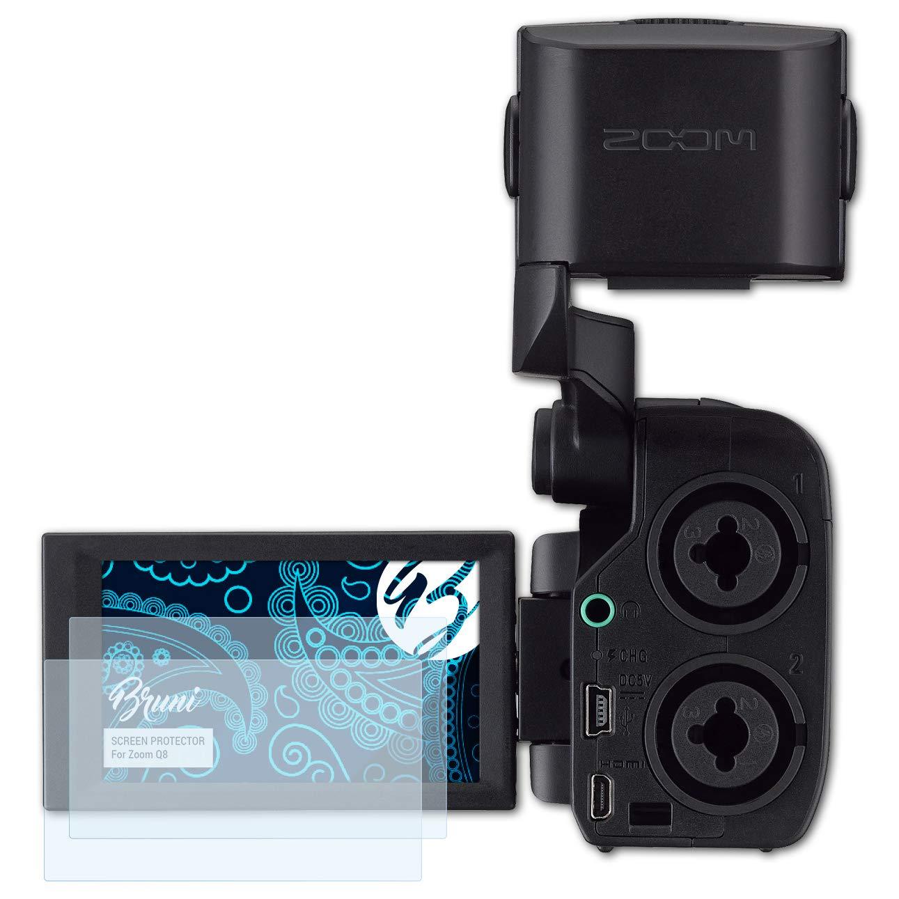 Claro L/ámina Protectora Bruni Pel/ícula Protectora para Zoom Q8 Protector Pel/ícula 2X