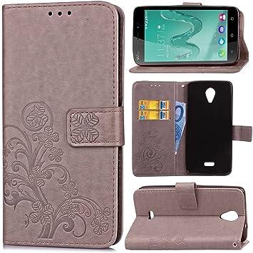 Guran® Funda de Cuero PU para Wiko Freddy Smartphone Función de ...