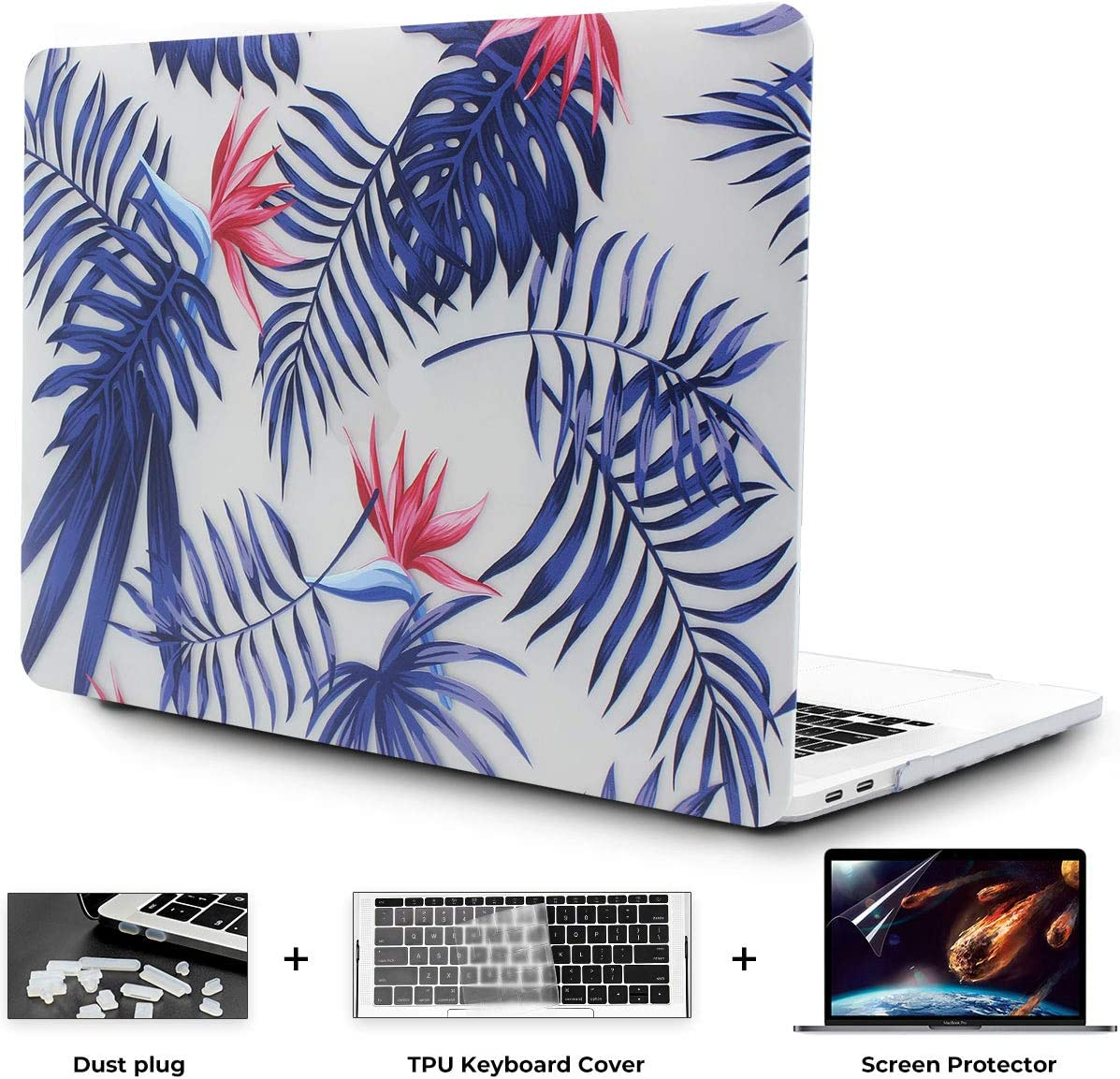 OneGET MacBook Pro16 Inch Case with Touch Bar Touch ID MacBook Pro16 Inch Case 2019 Release A2141 with Retina Display Retro MacBook Pro Cases Fashion Laptop Case Pro 16 Inch Hard Case Flowers F3