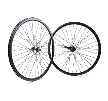 RIDEWILL BIKE – Juego Ruedas bicicleta fija 30 mm mate negro con Posavasos (Coaster)