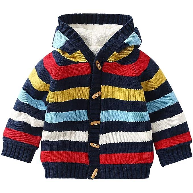 ARAUS Bebé Jacket Coat Cardigan Bebé Invierno Abrigo con Capucha Hoodie Sweaters para Niños de 0-4 años: Amazon.es: Ropa y accesorios