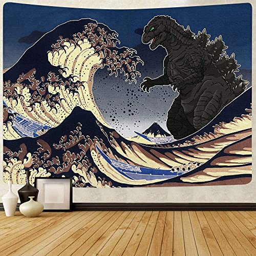 FEASRT Ocean Wave Tapestry Art Decoration Tapestries Wall Hanging for Living Room Bedroom Dorm Home Decor Banner 80 60 Inches GTZYAY57
