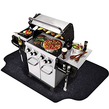 Gas Grill Mat (36'' x 72''), Grilling Gear for Gas/Electric Grill – Absorbent Waterproof Grill Pad Lightweight Washable Floor Mat to Protect Decks and Patios From Grease Splatter and Other Messes