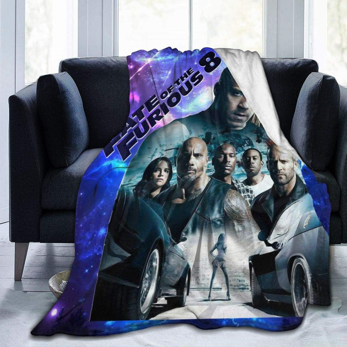 "Melissa Math Ilda Warm Throw Blanket FA-st Fur-ious 3D Printed Super Soft Fuzzy Fleece Blanket Plush Polyester Blanket 60""x50"""