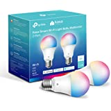 Kasa Smart Light Bulbs, Full Color Changing Dimmable Smart WiFi Bulbs Works with Alexa and Google Home, A19, 9W 800 Lumens,2.