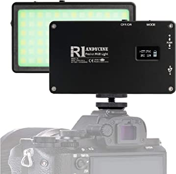 Mini USB-C 10W On-Camera Vlogger Video Light 2500-7000K Dimmable with 3600mAh Built in Battery for Sony Fuji Filming,Gimbals and More Canon ANDYCINE R1 RGB Pocket Light Nikon Panasonic
