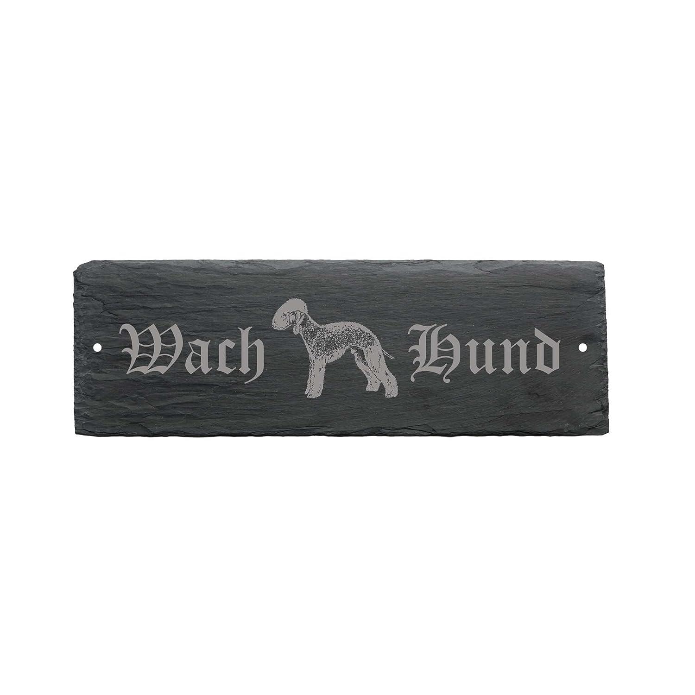 Weatherproof Sign GUARD DOG Bedlington Terrier 'Dog 22 x 8 cm –  Dog DEKOLANDO 0742288313617