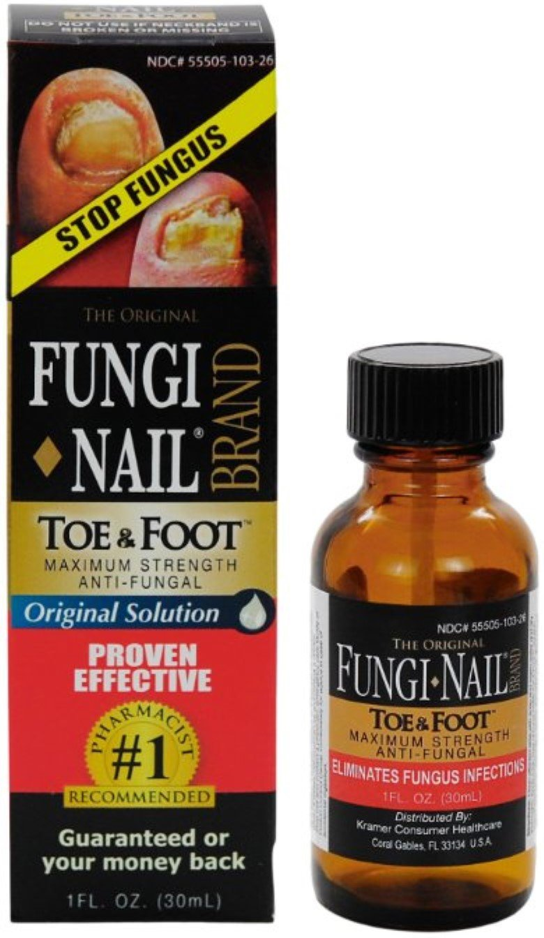 Fungi-Nail Brand Anti-Fungal Solution 1 oz (Pack of 8)