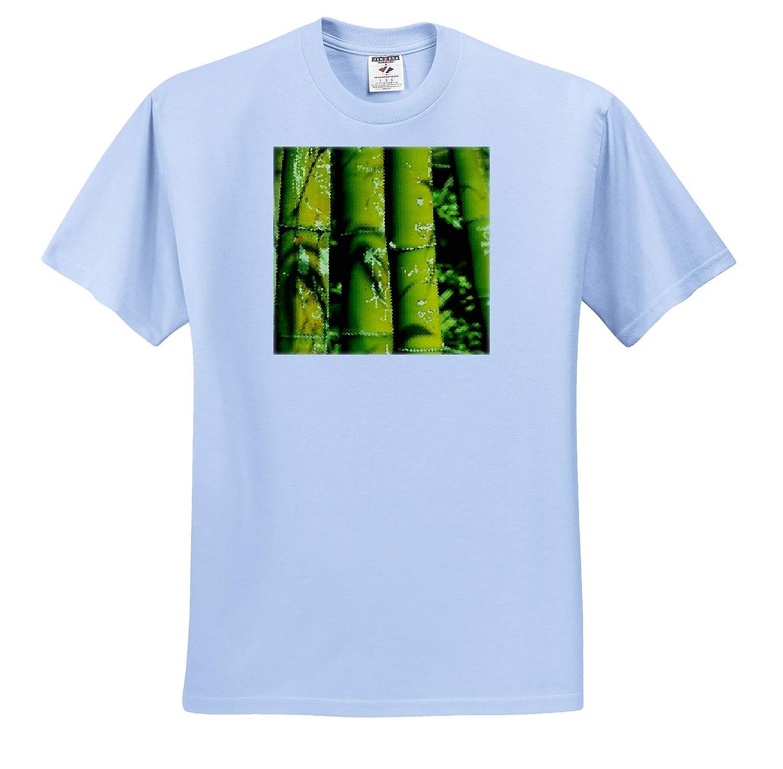 Image of Trendy Bamboo Cubism Art Adult T-Shirt XL ts/_320243 Cubism Art 3dRose Lens Art by Florene