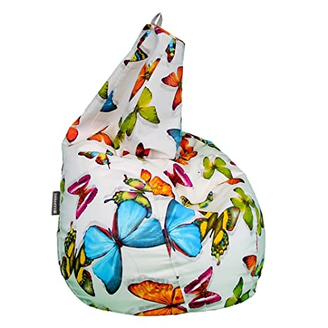HAPPERS Puff Pera Estampado Mariposas XL