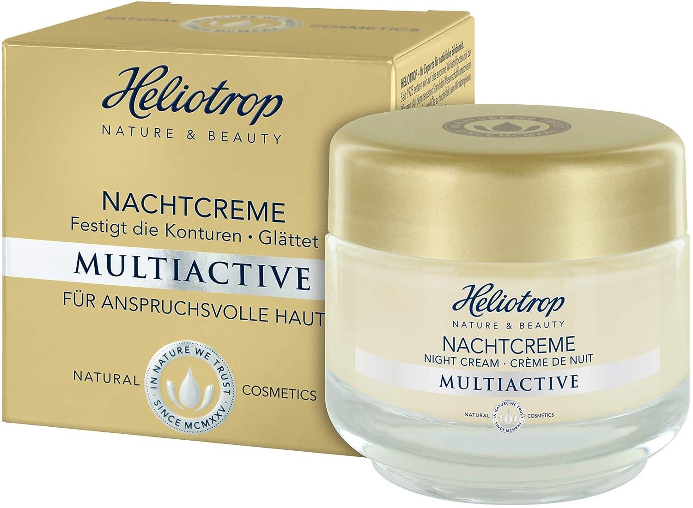 HELIOTROP Naturkosmetik MULTIACTIVE Nachtcreme, Intensiver Wirkstoffkomplex, Verbessert den Feuchtigkeitsstatus der Haut, Stimuliert die Collagensynthese, 50ml 72128