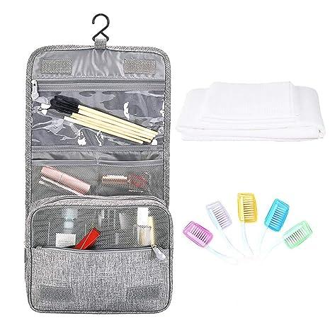 Hantier Bolsa de baño colgante Cosmético Maquillaje Bolsa de artículos de tocador Organizador de almacenamiento,