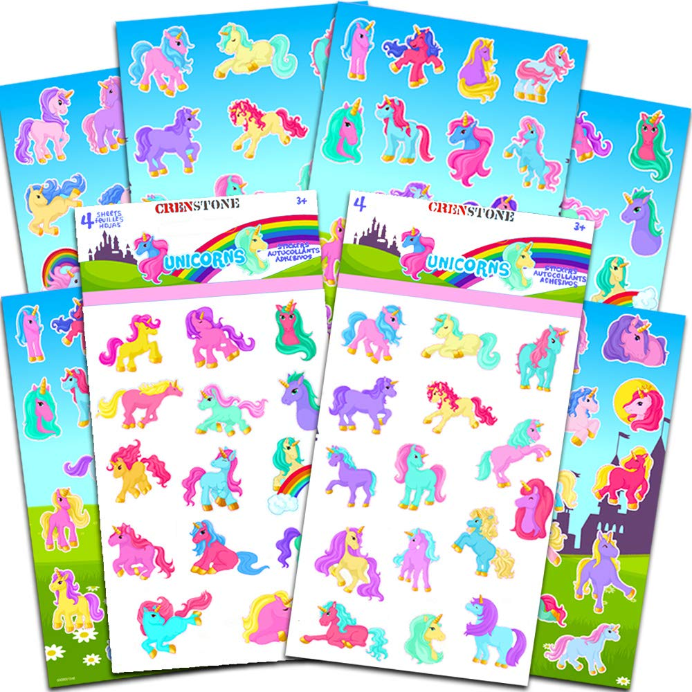 Mermaids and Unicorns Coloring Book Set for Kids Toddlers ~ 4 Coloring and Activity Books with Bonus Unicorn Stickers