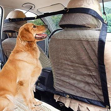 LYTIVAGEN Mascota Perro Red, Vehículo Van Asiento Trasero Red de Seguridad Universal Red de Barrera Coche para Perros, Mascotas(113cm x 62cm): Amazon.es: ...