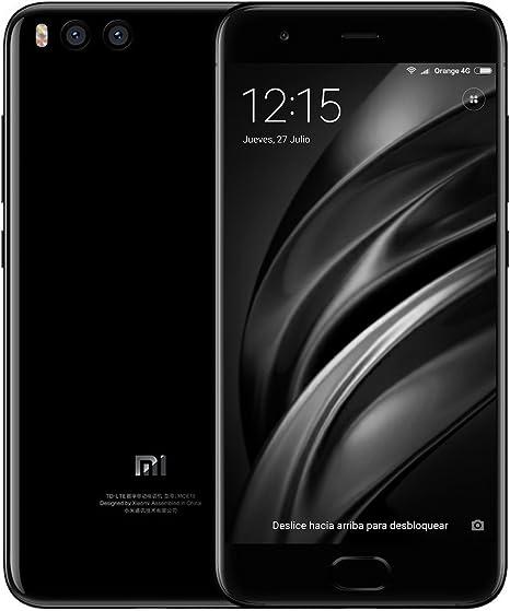 Xiaomi MI 6 - Smartphone de 5.15″ (Snapdragon 835, 6 GB RAM, 64 GB, 4G, Android Doble Sim), Color Negro: Amazon.es: Electrónica