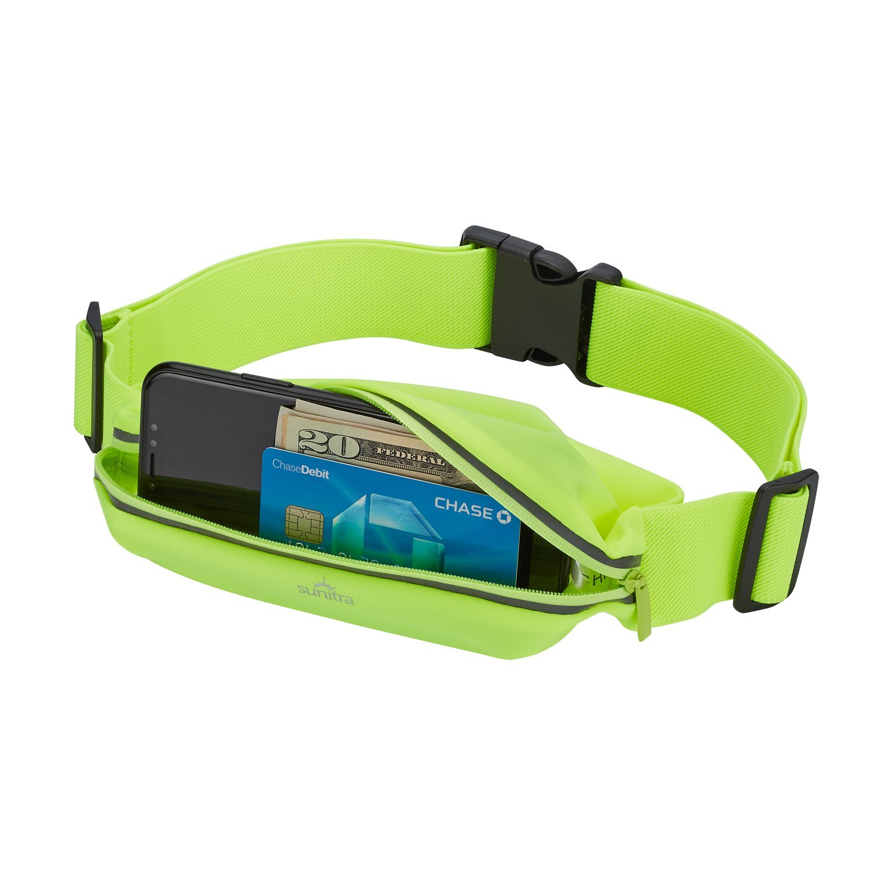 Sunitra  Running Belt Multifunctional Zipper Pockets Water Resistant Waist Bag