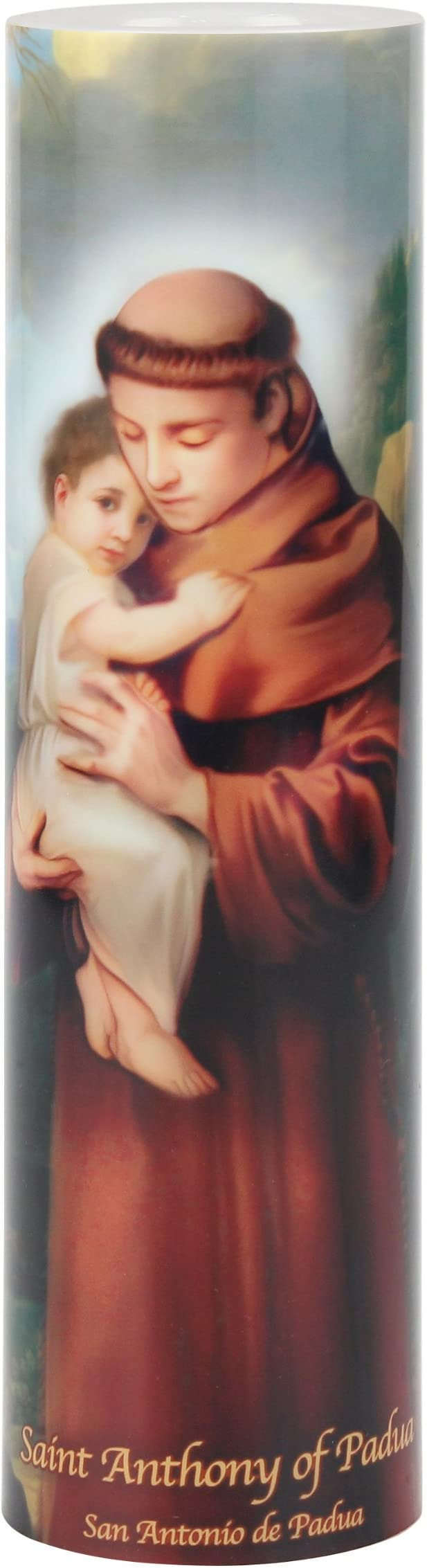 St Antony of Padua New  Devotional Religious Saint LED Flameless Prayer Candle