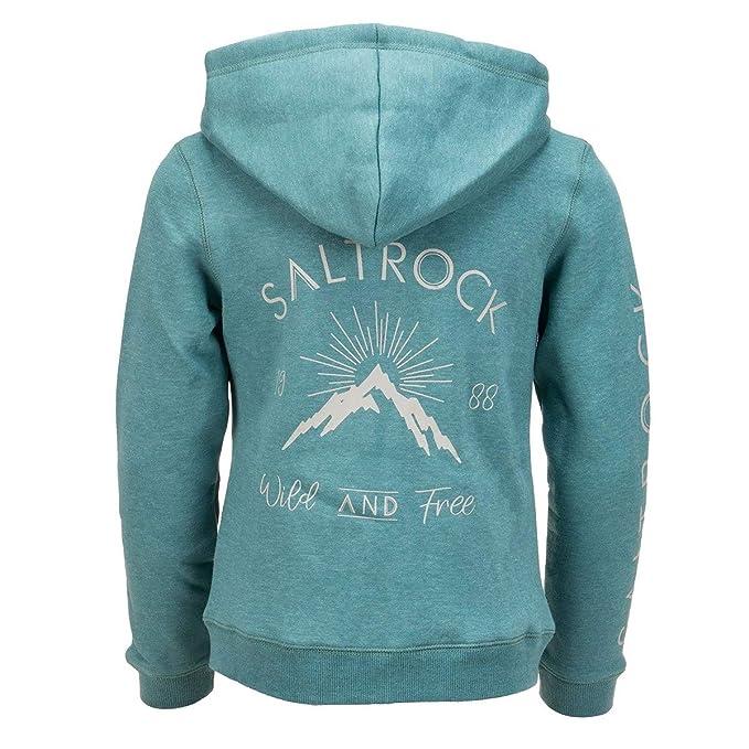 Blue Saltrock Linnet Girls Zip Hoodie