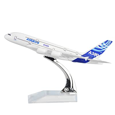 24-Hours Airbus A380 Alloy Metal Model Decorations Plane Model Die-cast 1:400: Toys & Games