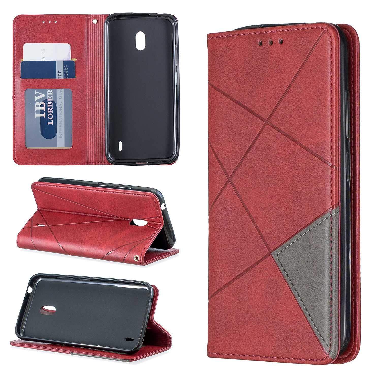 Cover Nokia 2.2 Bear Village/® in Pelle di Portafoglio Cover con Funzione Supporto e Slot per Schede Blu Cover a Portafoglio per Nokia 2.2