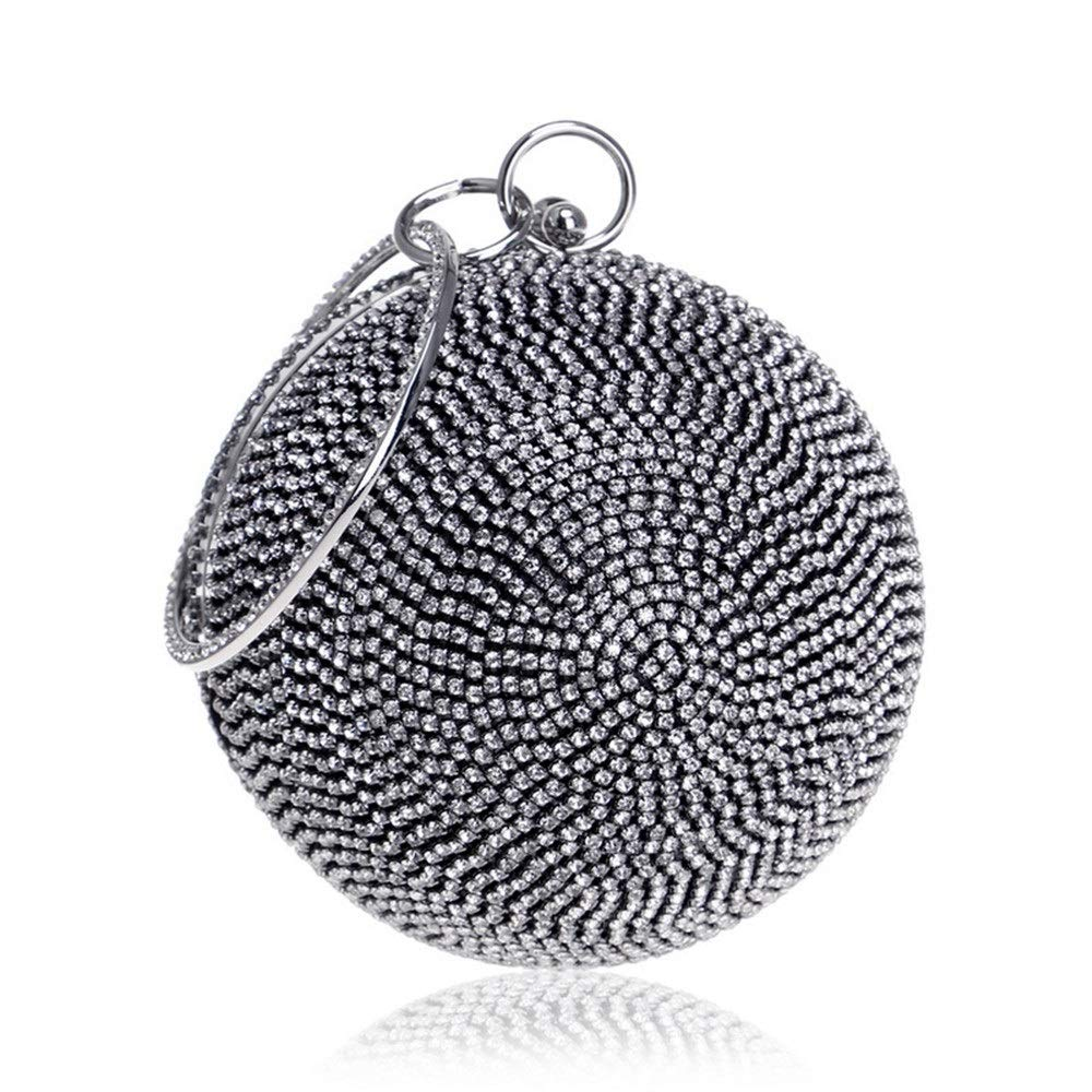 Ghpter Damen Abendtasche Mini-Abendtaschen Abendtasche Abendtasche Abendtasche Runde Diamantbesetzte Abendtasche Damen Spherical Tote Hochzeit Braut Geldbörse (Farbe   R5) B07PQBW7T1 Clutches Vielfalt 5bd9a4