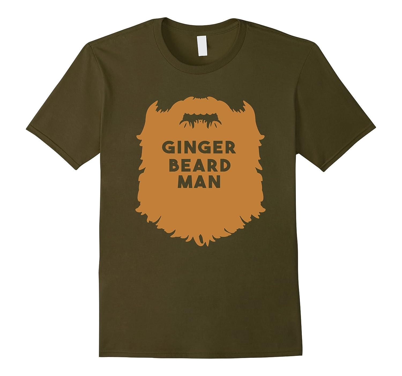 Mens Beard Man Shirt - Ginger Beard Man-TD